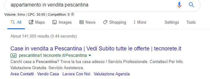 query google adwords immobiliare
